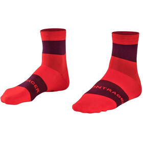 Bontrager Race Quarter-Cut Socken Herren radioactive red/black